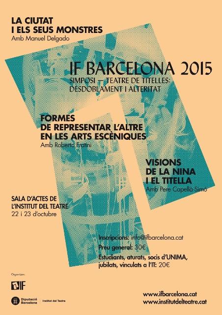 Simposio Títeres y Alteridad en Barcelona