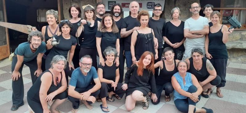 Agnès Limbos, curso 'El actor y el Objeto'. Escuela de Verano de Unima Federación España, por Inma Palomar